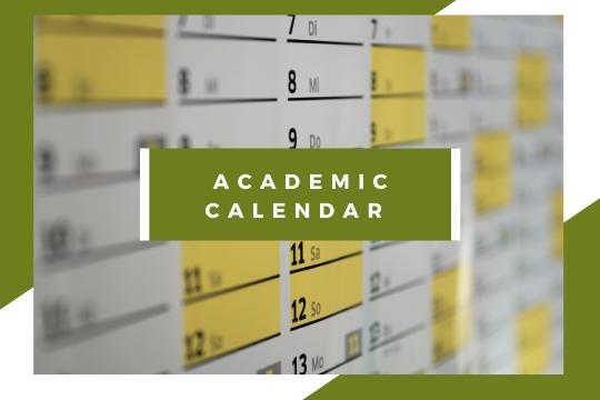 Academic calendar for the 2021/22 a.y.