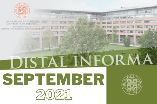 Newsletter DISTAL September 2021