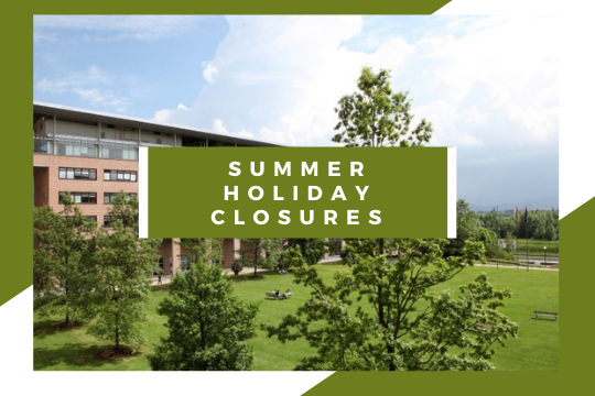 Summer holiday closures